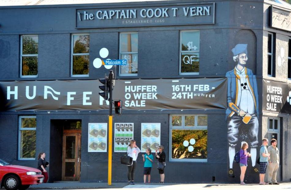 The Captain Cook Tavern in North Dunedin, this week. Photo by Craig Baxter.