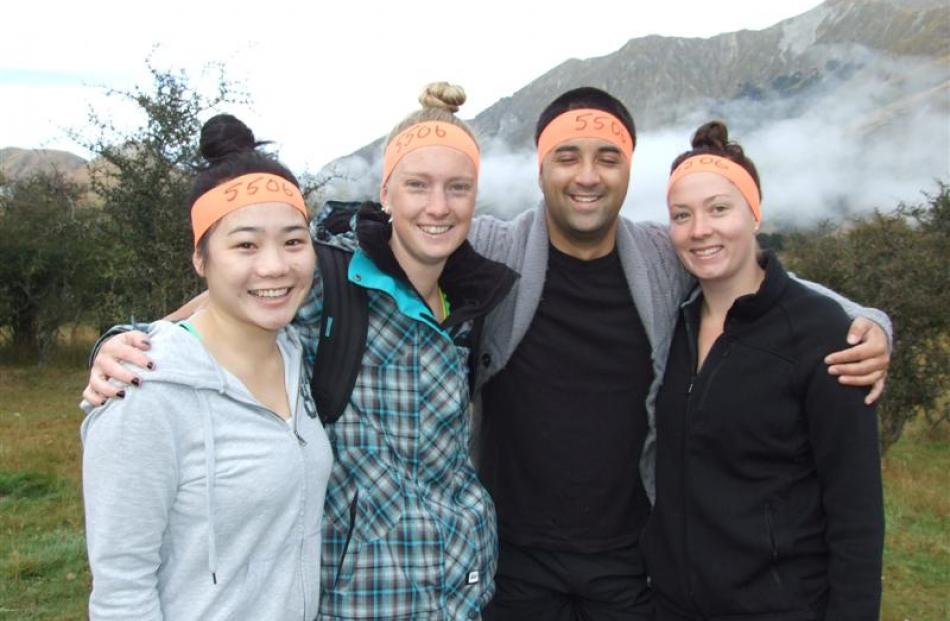 Ashleigh Shum, Aleisha Rosier, Matt Campbell and Meighan Clark, all of Queenstown.