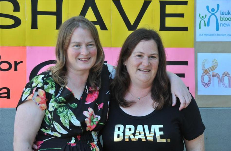 Janine Neill (in floral top) and Justine Farquhar, of the University of Otago department of...