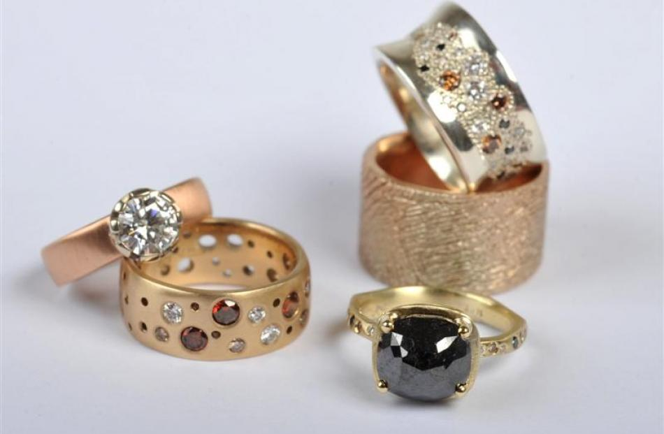 A selection of Debra's rings. Photos by Gregor Richardson.
