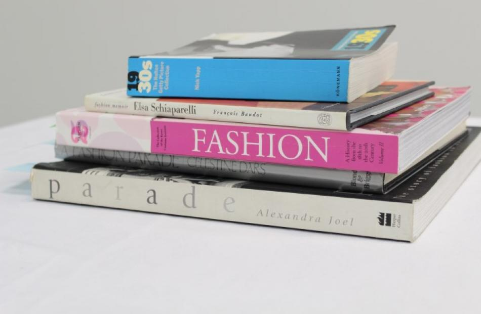 Some of the fashion books the audience were welcome to browse through after the talk.