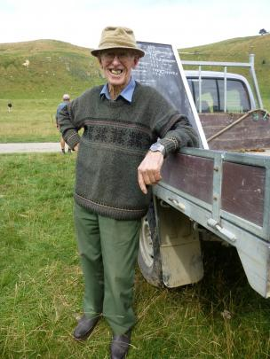 Waihi Station owner and sheepdog trial stalwart Archie Reid lends a hand at the Geraldine Collie...