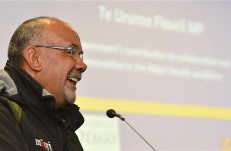 Maori Party MP Te Ururoa Flavell discusses the challenges facing Maori health at ''The Otago Hui...