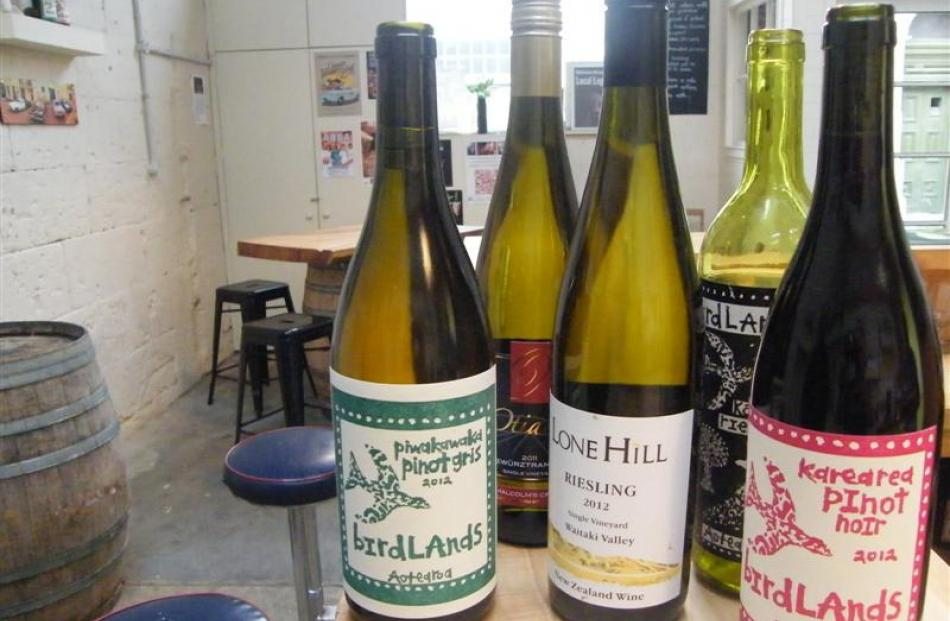 Birdlands and other boutique Waitaki Valley wines are ready for pouring in Birdlands Bar in...