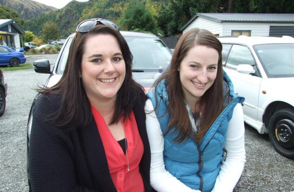 Amy Packer and Laura Paine, both of Queenstown.