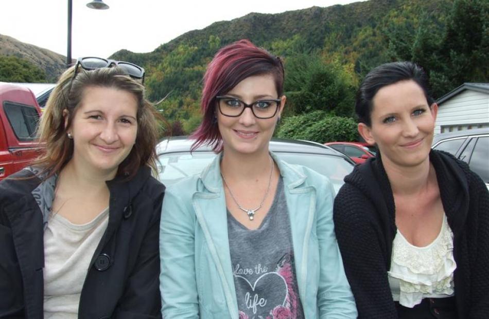 Emma Waller, Natalie Sullivan and Peita Fleming, all of Queenstown.