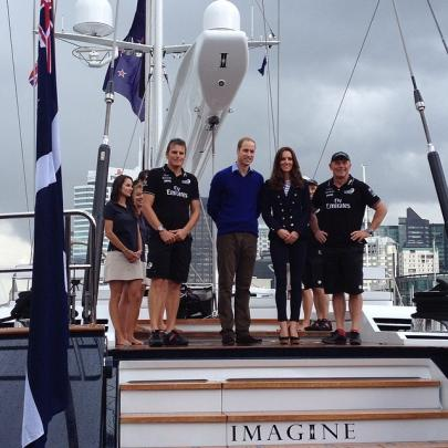 The Duke and Duchess and their match race sailing teams.