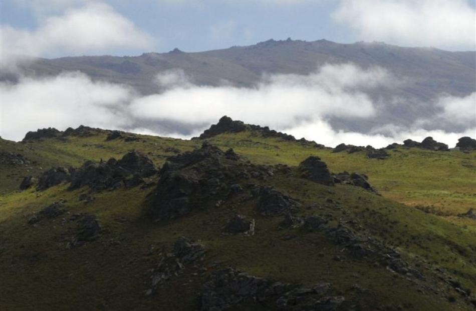 The Rock and Pillar Range near Middlemarch. Photo by Gerard O'Brien.