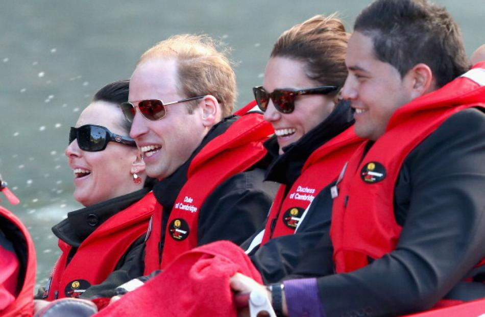 The day in the South ended with a thrilling ride for the royal couple. (Photo by Chris Jackson...