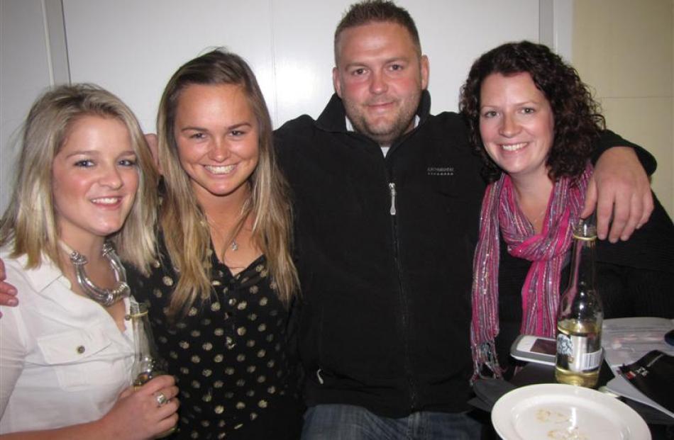 From left, Tash Falk, Heidi Arndt, Russell Longthorn and Ann-Marie Longthorn, all of Queenstown.