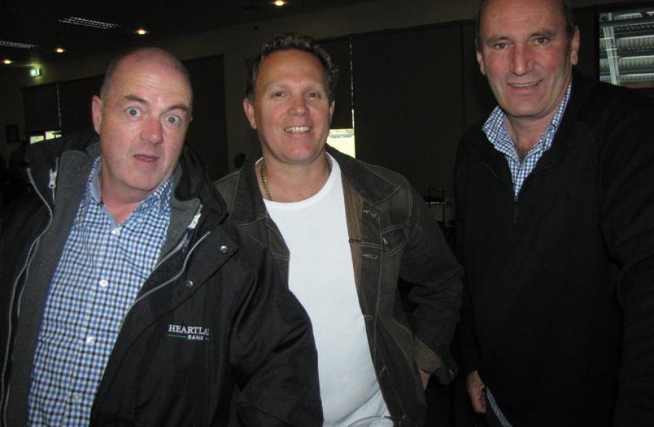 Martin Hannaga (left), of Dunedin,  Brendon Walker (centre) and Kevin Paul, both of Queenstown.
