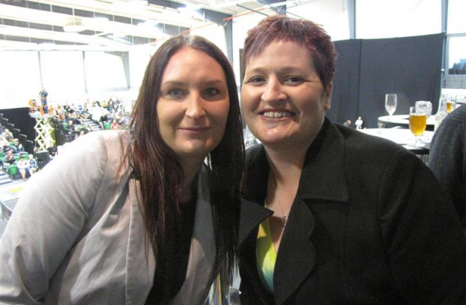 Micaela  Sloan (left) and Mel Frazer, both of Invercargill.