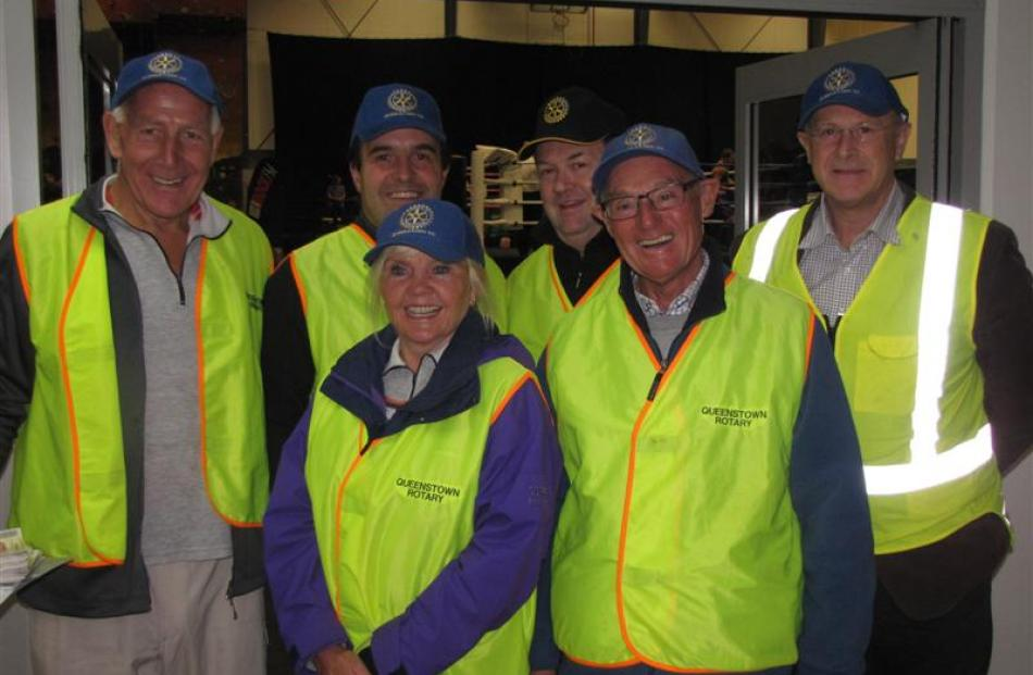 Queentown Rotary members, from left, Bruce Jefford, Pete Laurenson, Pat Jefford, Keith McIntosh,...