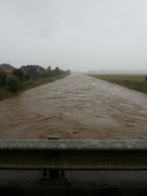 View from the Gordon Rd bridge in Mosgiel.