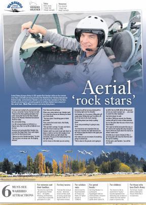 Aerial 'rock stars'.
