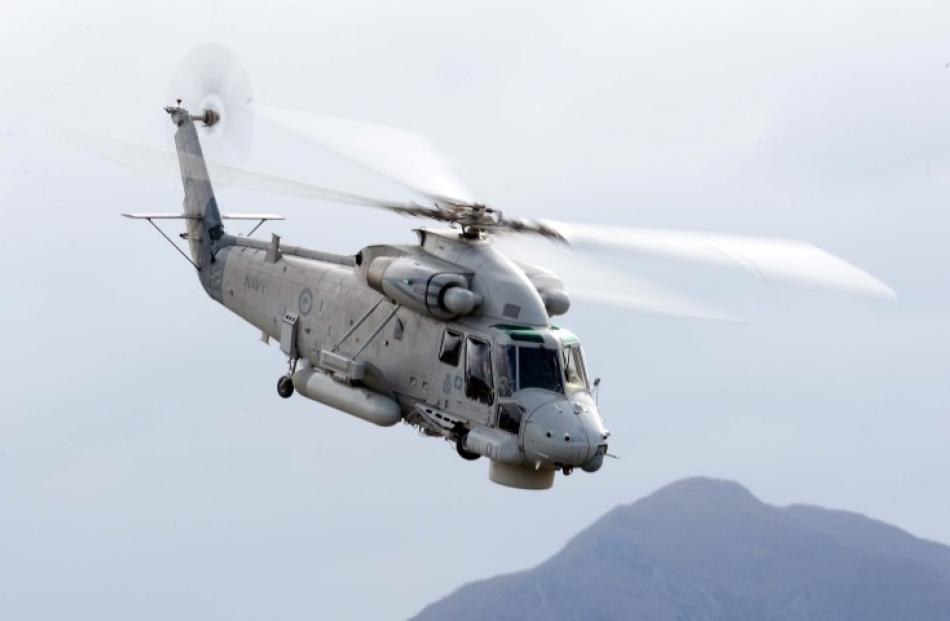 The navy Seasprite helicopter performs.