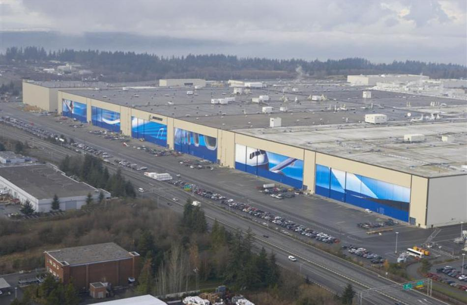 Disneyland could easily fit inside the footprint of the Boeing factory at Everett, north of...
