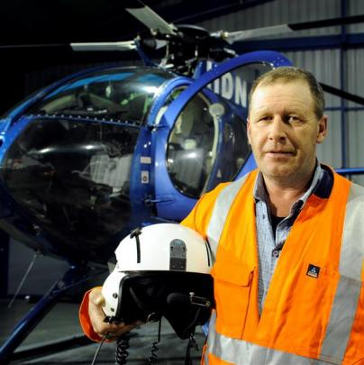 Central South Island Helicopters Ltd pilot Gary Oakes, who evacuated mine staff, at his Herbert...