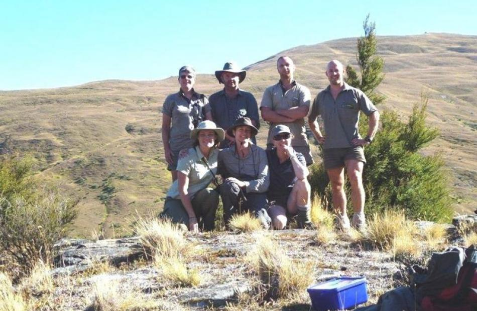 The group involved in the collection of 85 endangered skinks from near Wanaka in February are ...