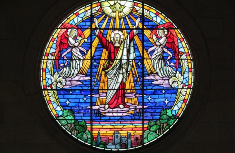 Arthur Raffills helped create The Ascension stained-glass window at St Paul's Presbyterian Church...
