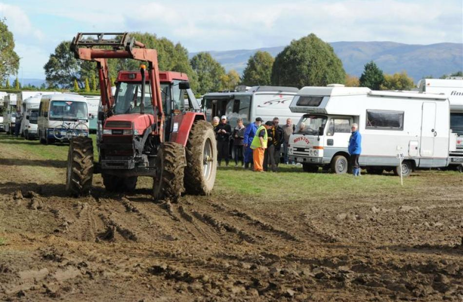More muddy action at the Taieri A&P Showgrounds.