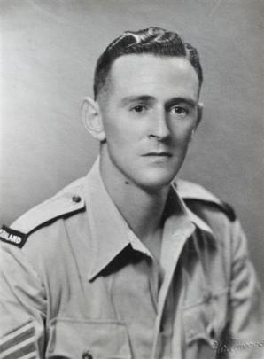 A photograph of  then Sgt  Huntley taken in Alexandria, in Egypt, in July 1945.