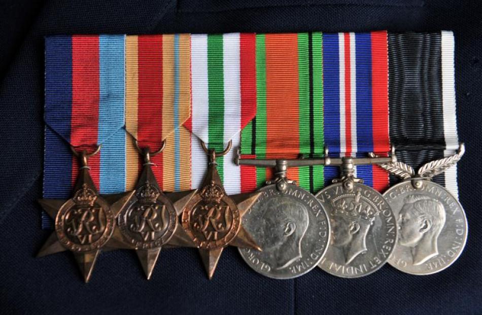 Mr  Huntley's service medals.
