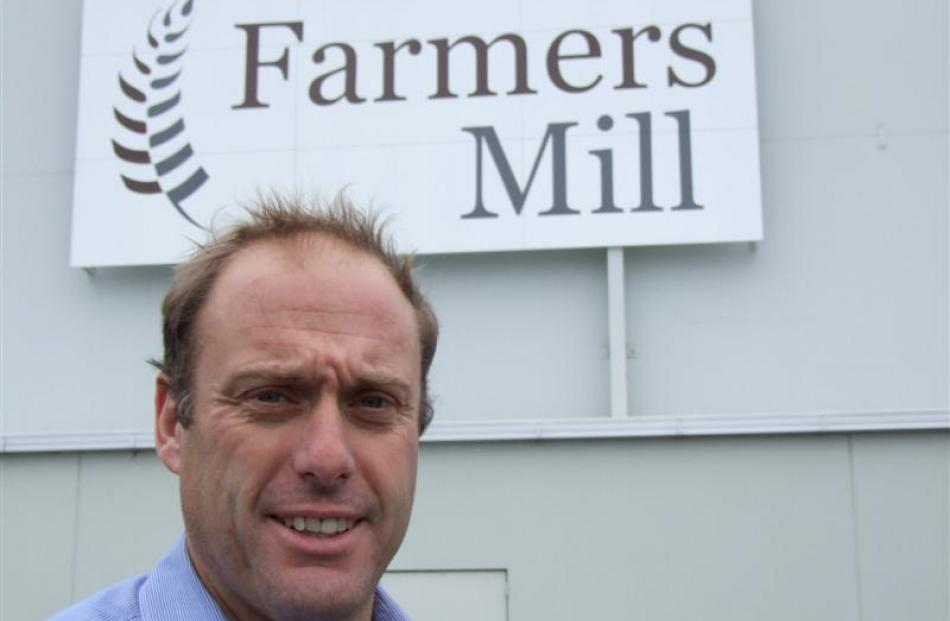 Farmers Mill chief executive Grant Bunting outside the Washdyke  mill. Photo by Sally Rae.