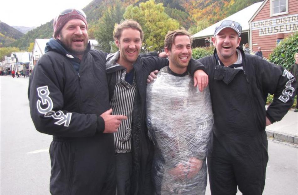 Winner of the Arrowtown Autumn Festival Pub to Pub Challenge was  the  Arrowtown Rugby team,  ...