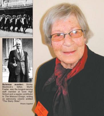 Many memories: Gore High School's head prefect in 1942 Shirley Martin Blacklock (nee Fowler,...