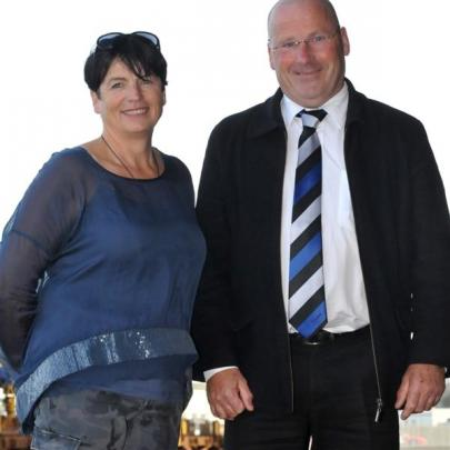 Senior Constable Helen Fincham-Putter, of Middlemarch, and Taieri Gorge Rail Walk convener Alan...