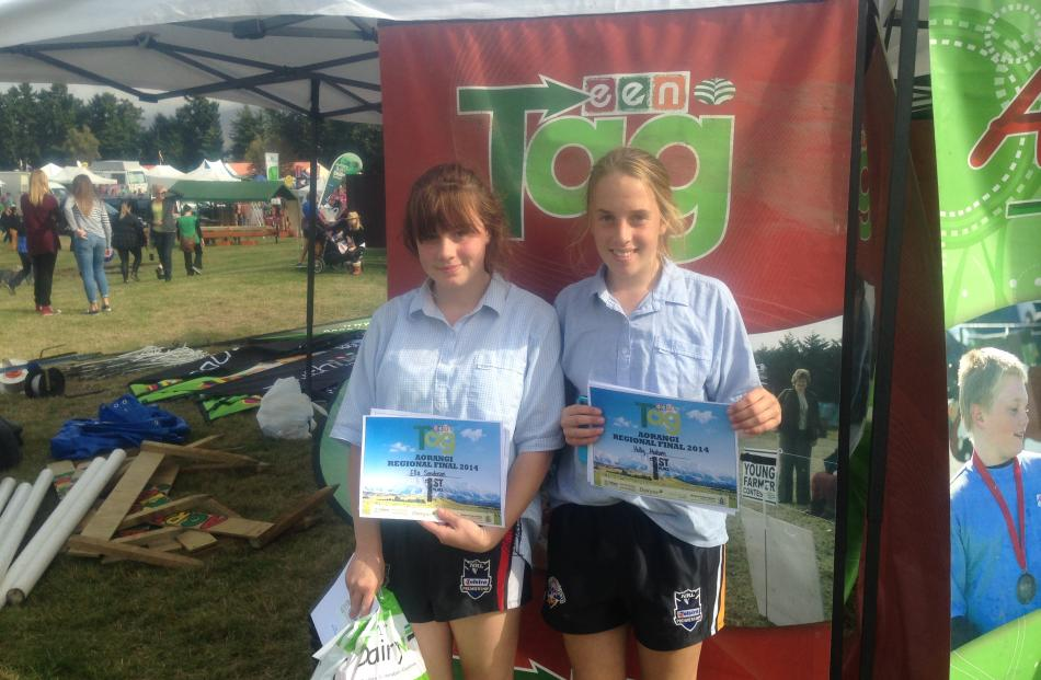 High Country Hillbillies Ella Sanderson (left) and Holly Malcolm, from St Kevin's College, in...