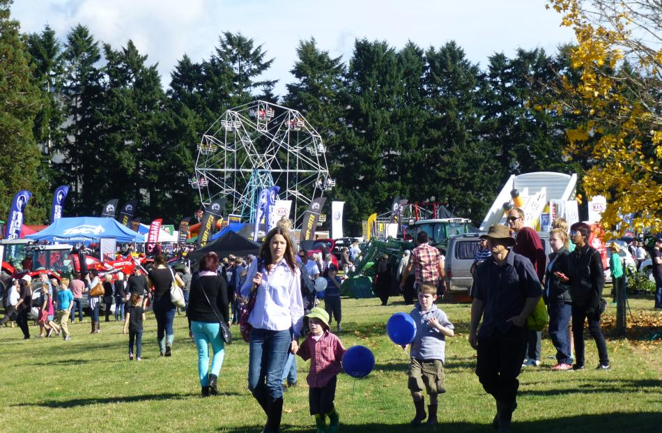 Crowds gathered in the sunshine to enjoy the show. Photo by Ruth Grundy