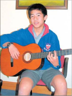 Guitar maestro: Kavan Chay (13) showing the form that saw him ranked in the top four in New...