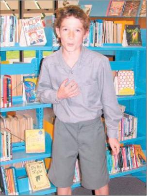 Heartfelt: Morgan Pearce (12) enjoys performing a poem.
