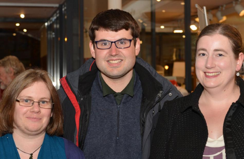 Emily Yates, Geoffrey Miller and Nicola Stedman, all of Dunedin.