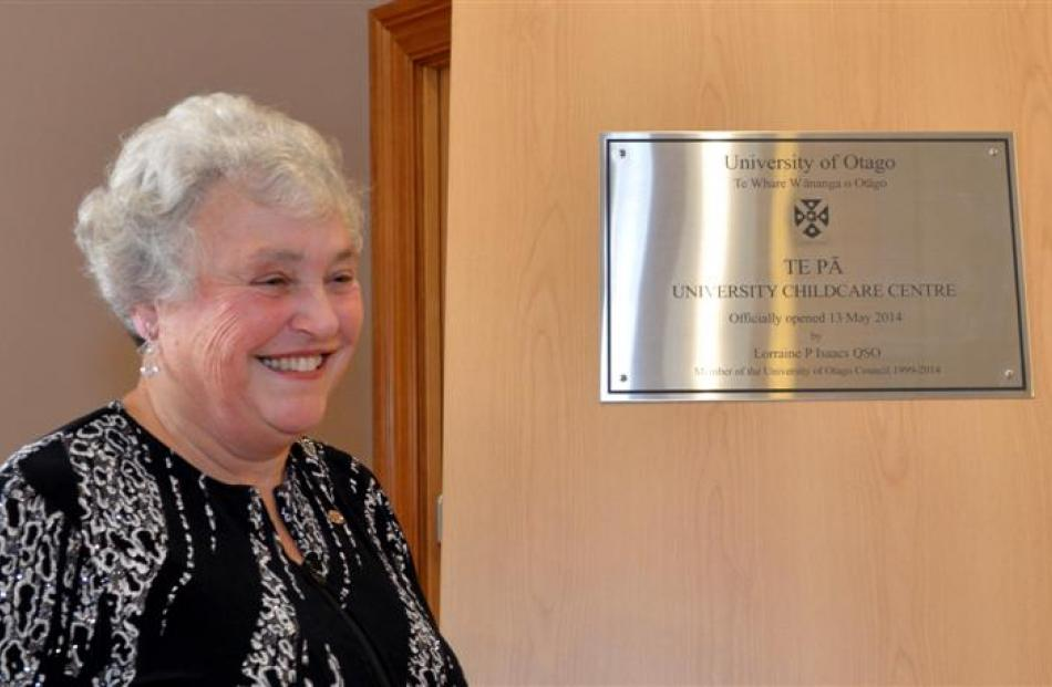 University of Otago stalwart Lorraine Isaacs had the privilege of opening the  centre.