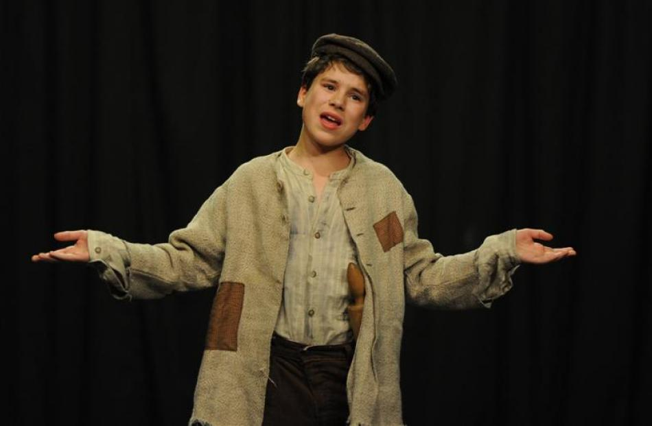 Alexander McAdam (13), of Dunedin, sings <i>Consider  Yourself</i>,  from the musical <i>Oliver!</i>