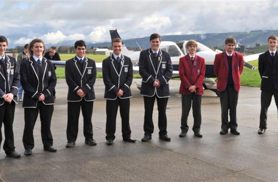 Gateway programme pupils (from left) Morris Stevenson, Joe Meehan, Daniel Wilden, Sam Montgomery,...