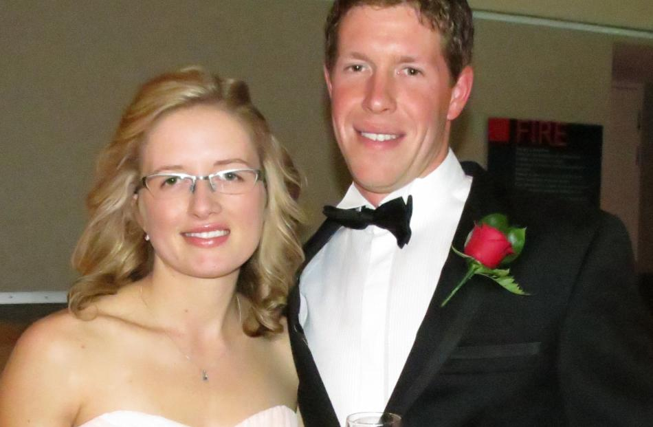 Southland/Otago Dairy Trainee of the Year Josh Lavender and fiancee Chantelle Ross.
