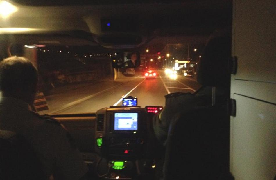 An ambulance driven by Andrew Duncan  reaches a speed of 80kmh in Kaikorai Valley Rd. Fellow...