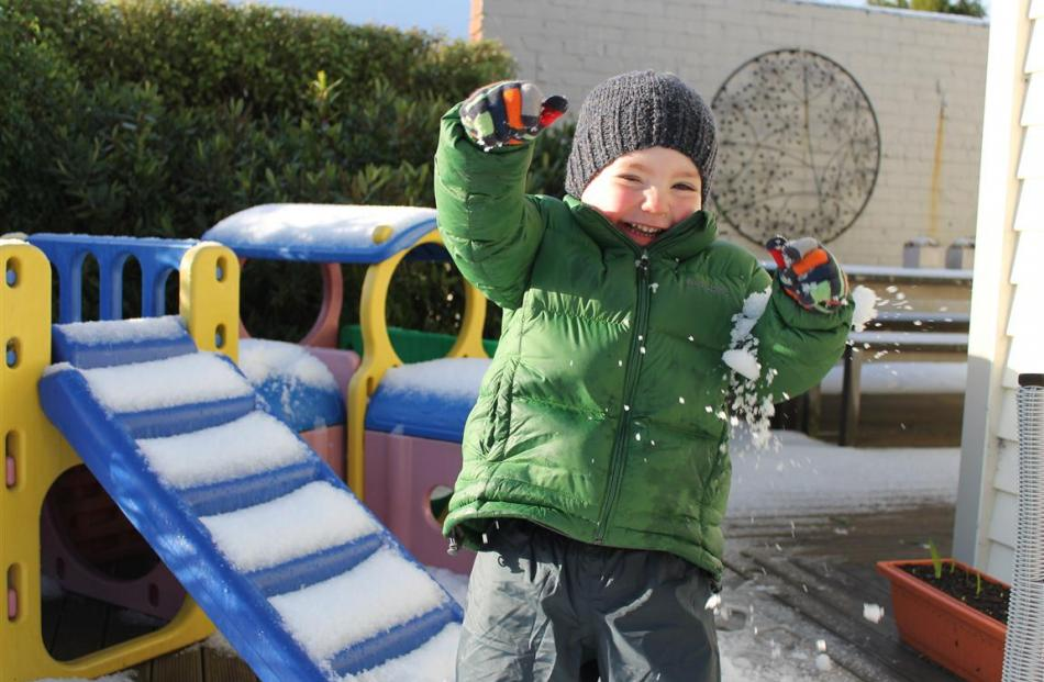 Jack (almost 3) enjoying the snow in Roslyn. Photo by Arlene McDowell
