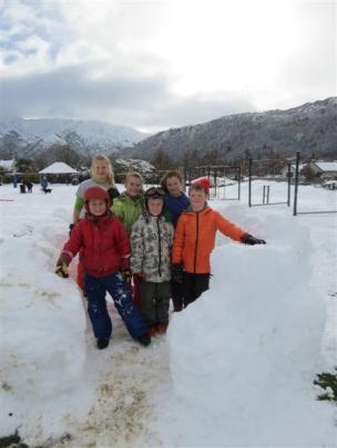 Arrowtown School pupils could not stay away yesterday, despite school being closed. After...