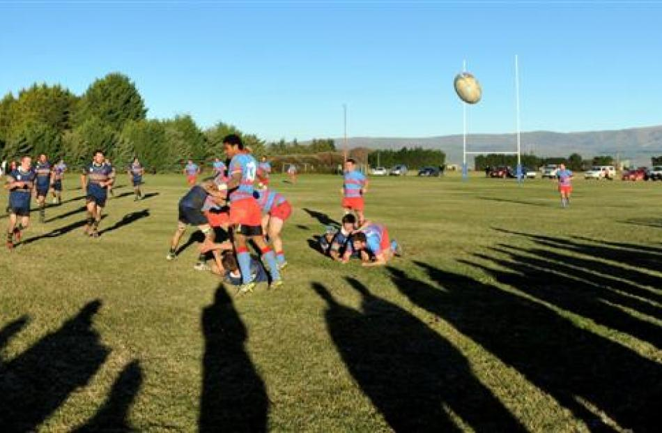 Central Otago and South Otago premier rugby teams play at Maniototo Park, in Ranfurly, on...