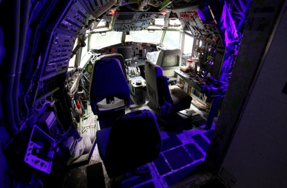 The cockpit, which Bruce is currently renovating. REUTERS/Steve Dipaola