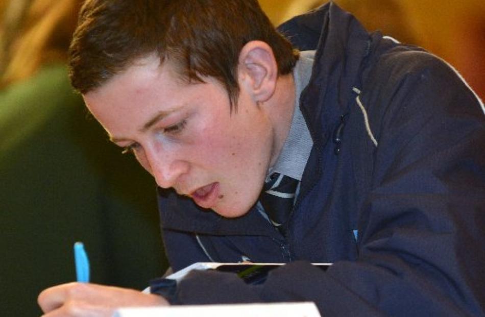 Tom Scoles (15), of Otago Boys High School 1.