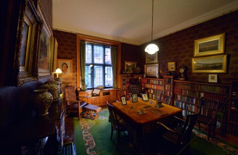 The library at Olveston.