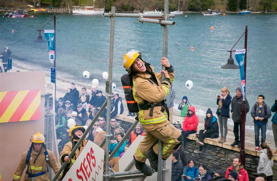 Queenstown Volunteer firefighter Gabbie Ernst during the Queenstown Winter Festival street parade...