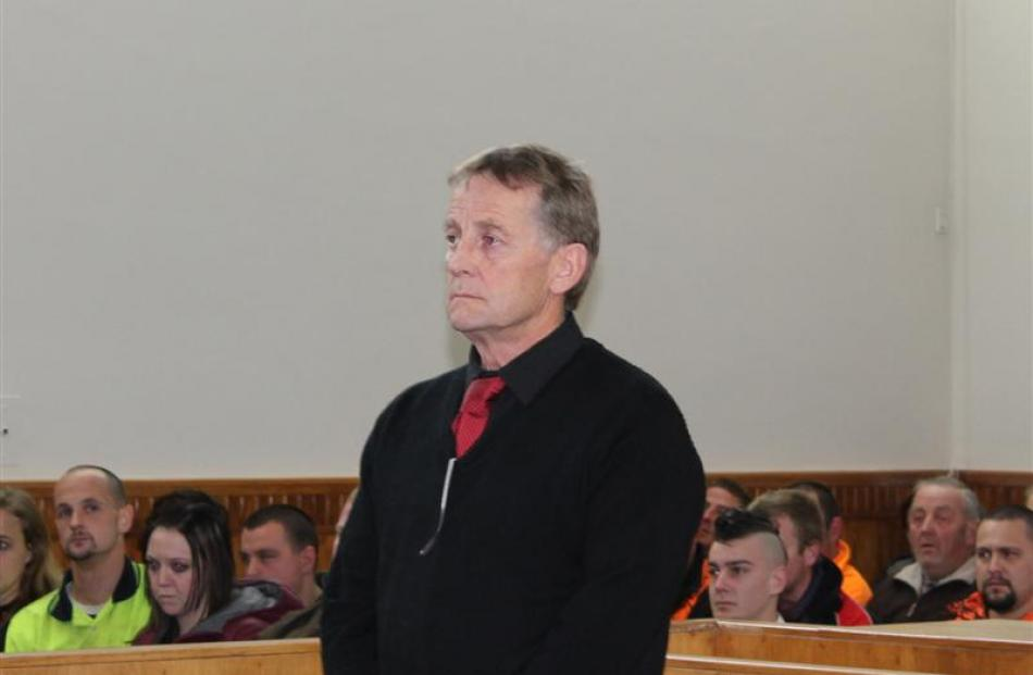 Wayne Edgerton in the dock at the Invercargill District Court yesterday.