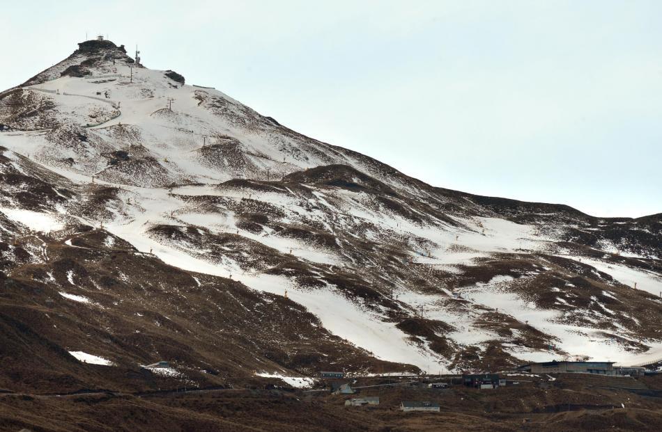 Coronet Peak skifield closed yesterday after overnight rain.